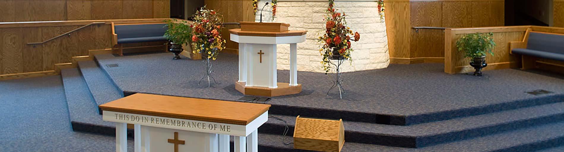 Church Pulpits | Pulpit Furniture | Imperial Woodworks, Inc. | Pews.com