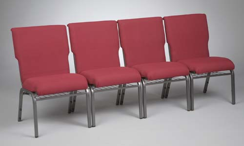 No. 65 Church chairs ganged in row
