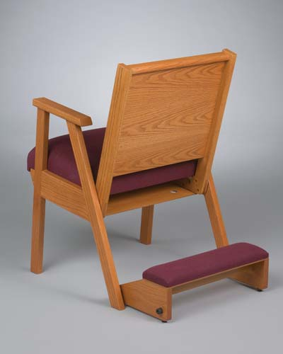 No. 87 Wood Chair with arms and wood kneeler down