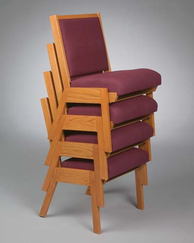 No. 87 Wood Chair without arms stacked