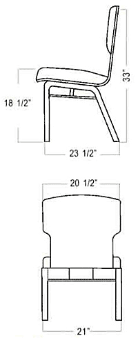 No. 90 Chair dimensions