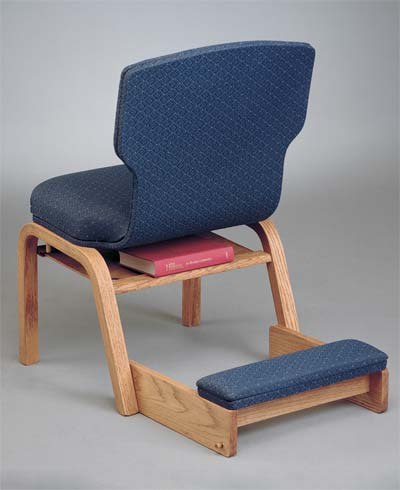 No. 90 Wood chair rear view with wood kneeler