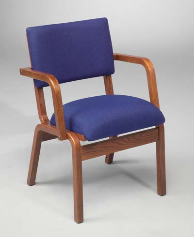 T300A Wood Frame Chair with arms
