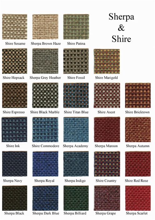 Sherpa & Shire colors