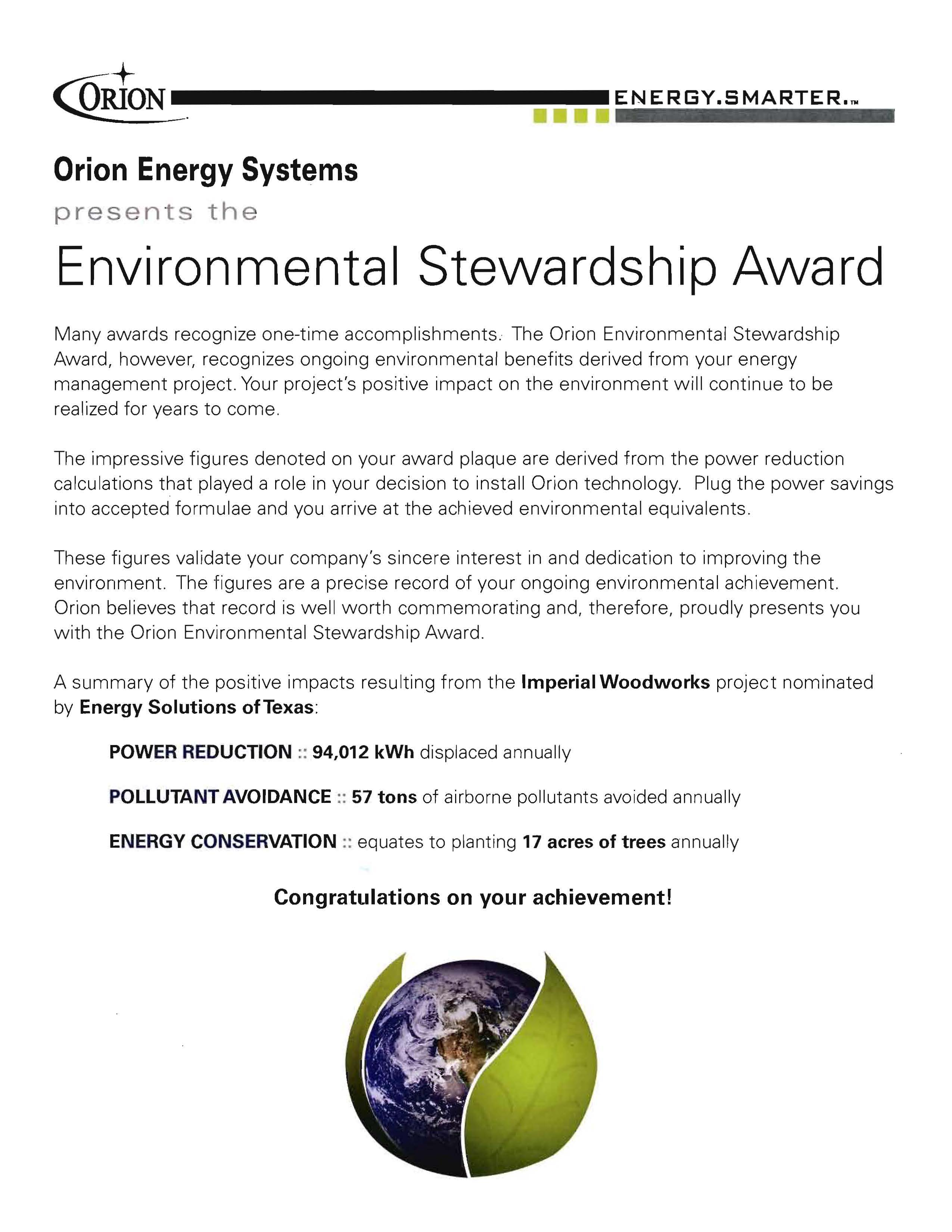 Environmental Stewardship and Conservation