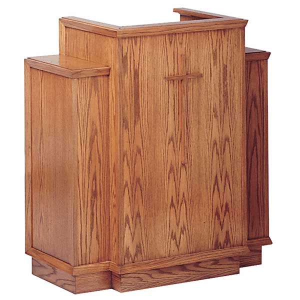 All stained pulpit used in funeral home chapels