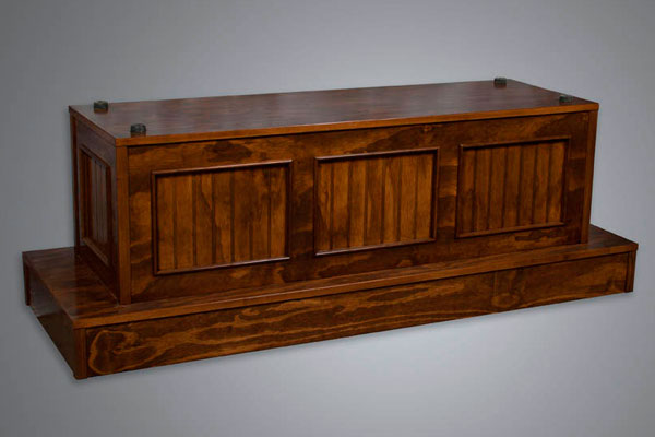 All stained casket bier model no. 110