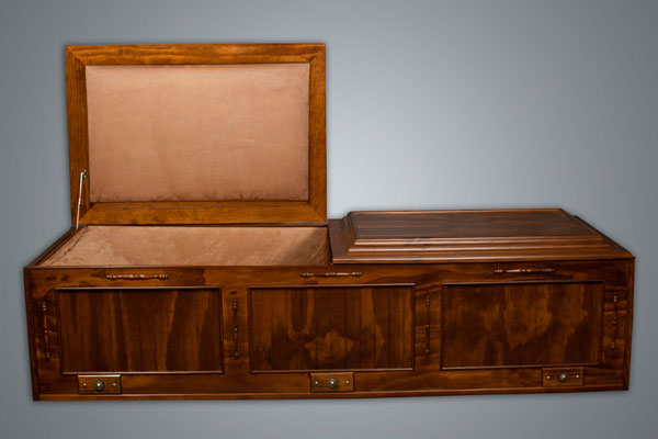 All stained casket model No. 1290