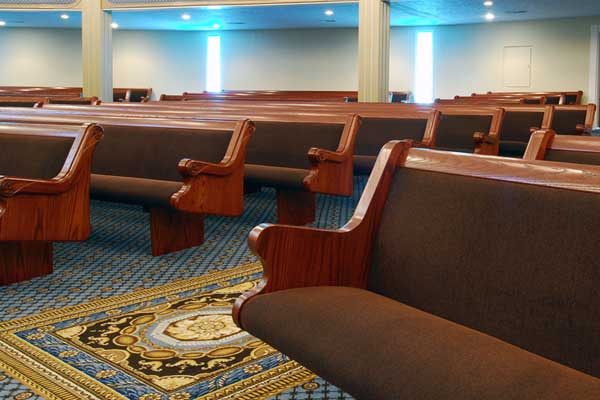 Chapel Pews for funeral home chapels