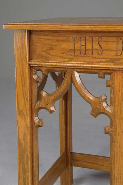 No. 205 Communion Table Detail