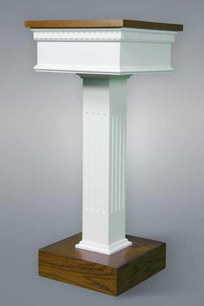 No. 8400 Flower Stand - Two Tone style with squared fluted column