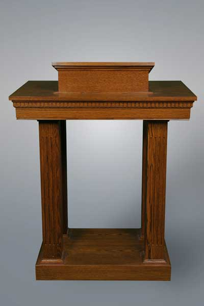 No 8401 All stained pulpit with squared columns