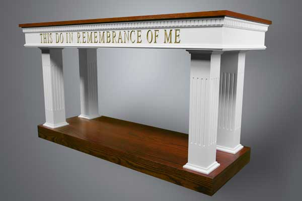 8405 Communion Table Two Tone Colonial