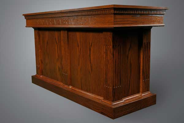 8410 Communion Table All Stained