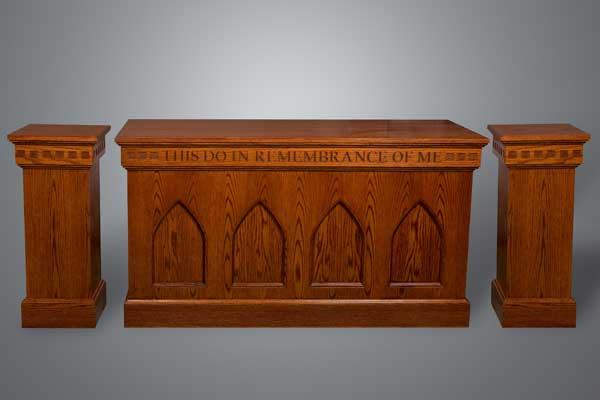 Imperial's #900 Series communion table and flower stand set
