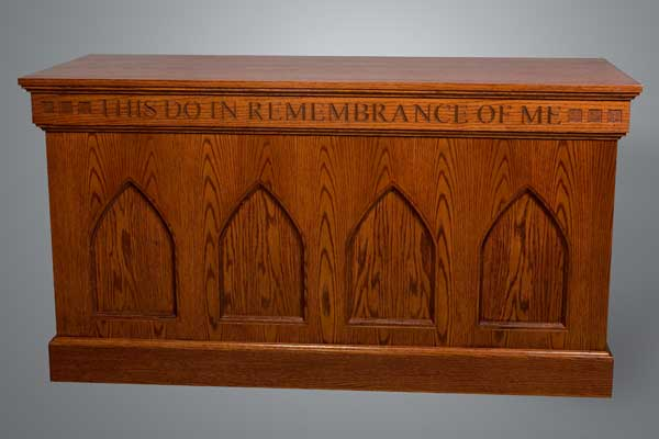 No. 900 Communion Table with decorative arched panels