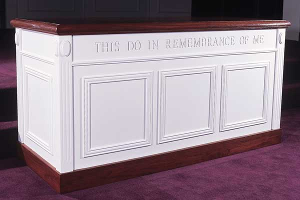 TCT-605 Closed Communion Table Two-tone Colonial Style