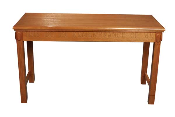 TOT-105 Open Communion Table All Stained