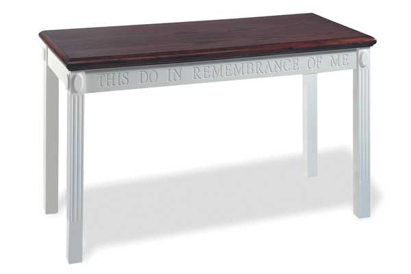 TOT-602 Open Communion Table Two-tone Colonial Style