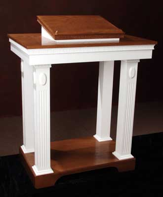 TOP-620 Two-tone colonial style pulpit