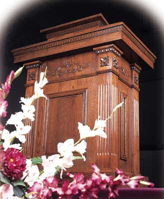 TSP-120 All-stained church pulpit