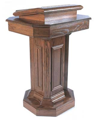 TSP-180 All-stained Pedestal style church pulpit