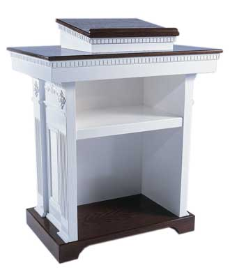 TSP-620 Colonial Style Pedestal Church Pulpit back view