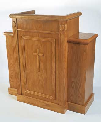 TWP-105 All Stained Church Pulpit