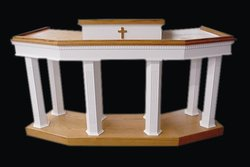 Custom Pulpit 4 - Imperial Woodworks, Inc.