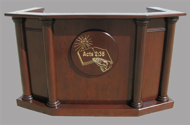 Custom Pulpit 7 - Imperial Woodworks, Inc.