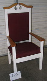 In-stock item no. 505 - TPC-603 Colonial Center Pulpit Chair