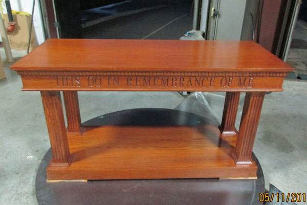 In-Stock - 8405AS Open Communion Table