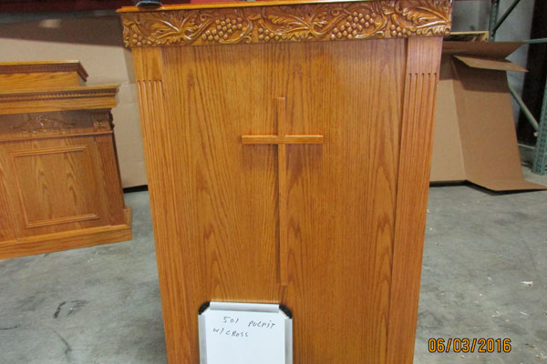 501 Pulpit with Cross